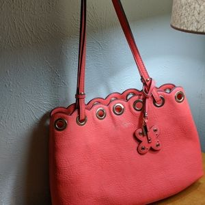 Jessica Simpson feaux leather pink/peach tote